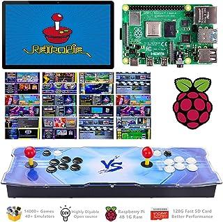 TAPDRA 14000+ Retro Games Arcade Console 2 Players for Raspberry Pi 4 Model B(1G Ram Edition) ES Retropie with 40+ Emulators