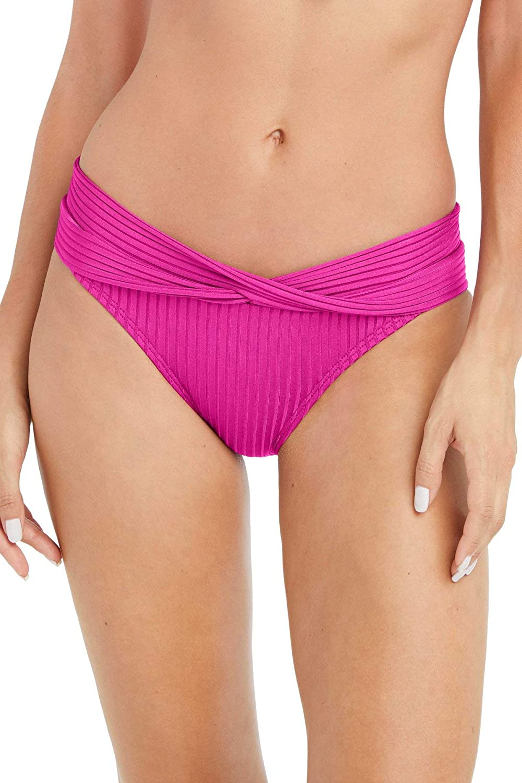 Robin Piccone Women's Neelah Twist Front Banded Hipster Bikini Bottom