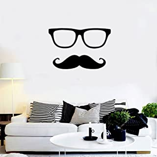 Men's Glasses Mustache Silhouette - Wall Art Decal - 15.5.5
