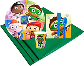 Super Why Childrens Birthday Party Supplies - Tableware Party Pack (8)
