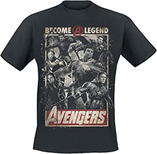 Universal Music GmbH Avengers Endgame - Become A Legend Hombre Camiseta Negro
