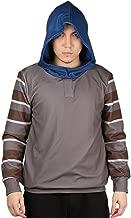 Xcoser Horrible Creepypasta Ticci Toby Cosplay Hoodie Unisex Gray Pullover Sweatshirt for Teenagers