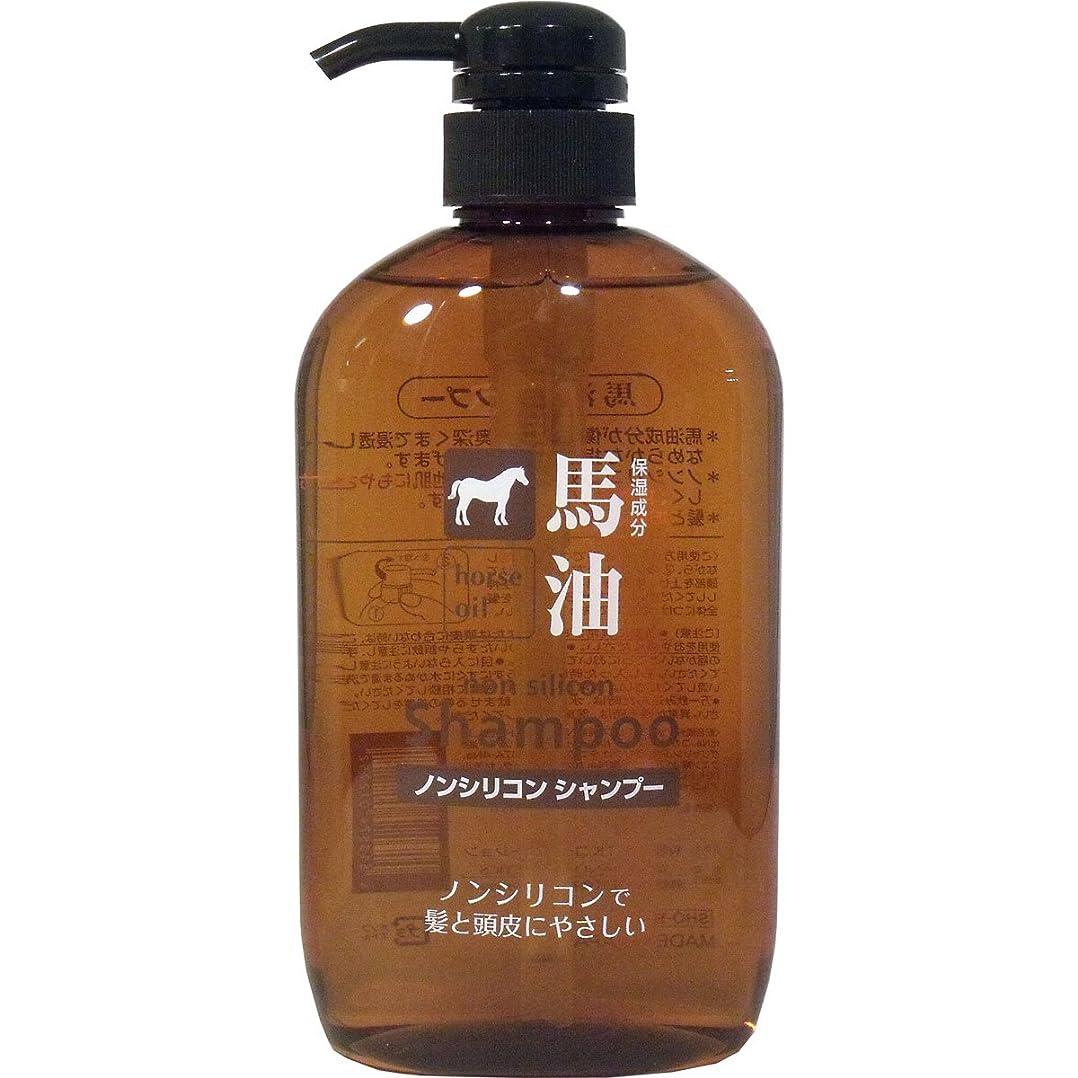 スポーツマンパノラマ静かに髪と頭皮にやさしい!ノンシリコンタイプで髪にも地肌にも優しい、自然なツヤを与える!髪とお肌と同じ弱酸性!馬油ノンシリコンシャンプー600mL