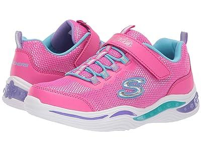 SKECHERS KIDS Power Petals 20202L (Little Kid/Big Kid) (Neon Pink/Multi) Girl