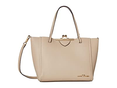Marc Jacobs The Kisslock Mini Tote (Khaki) Handbags