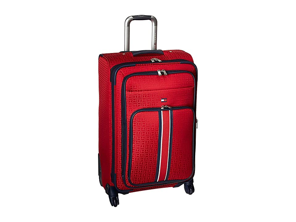 Tommy Hilfiger Classic Signature Jacquard 25 Upright Suitcase (Red) Pullman Luggage