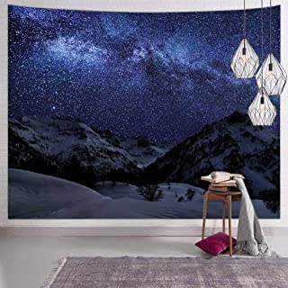 Hexagram Space Tapestry Wall Hanging Mountain Wall Tapestry Hippie Tapestries for Bedroom Living Room College Dorm