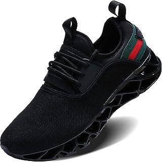 Wonesion Mens Walking Tennis Shoes Blade Slip on Casual Fashion Sneakers