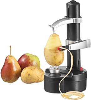 Weimei Multifunctional Electric Automatic Peeler Stainless Steel Fruit and Vegetable Peeler Machine for Apple and Potato (Black)