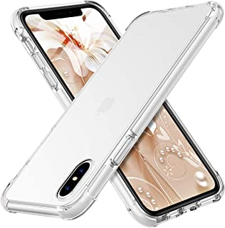 MATEPROX iPhone Xs Max Case Clear Hybrid TPU Hard Cover with Thin Shockproof Bumper Protective Case for iPhone Xs Max 6.5'' (Clear White)
