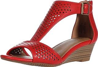 Aerosoles Women's Wedge Sandal, RED, 5