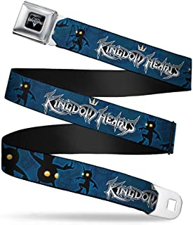 Seatbelt Belt - KINGDOM HEARTS Shadow Poses2 Navy Blue/Black - 1.0