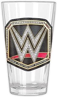 WWE WE120166B Heavyweight Champ Belt Pint Glass in Gift Box, 16-Ounce, Clear