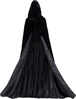 Aorme Halloween Hooded Cloaks Medieval Costumes Cosplay Wedding Capes Robe