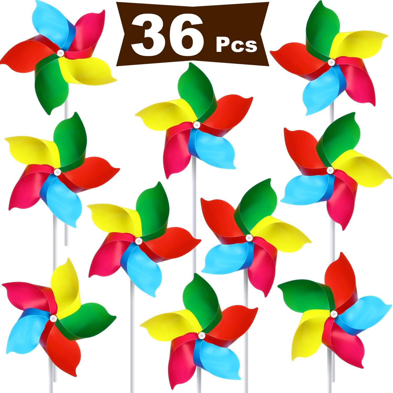 Hestya - Molinillo de plástico con diseño de arcoíris, Molinillo de Viento para césped, Juguete de jardín, Fiesta, decoración de césped, D: Amazon.es: Jardín