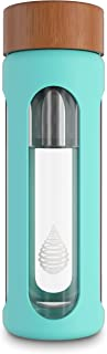 pH HYDRATE Glass Alkaline Water Bottle - Portable Filtered Water Bottle Ionizer - Water Bottle Filter - Increase pH, Reduce Fluoride, Remove Heavy Metals & Chlorine (400 ml)