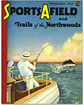LSA Brand Sports Afield Pulling in a Sword Fish Cover - 11x14 Unframed Print - Makes a Great Lake House, Beach House, Cabin Decor or Gift for Fishermen