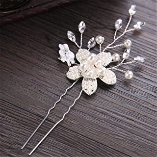 LUKEEXIN Wedding Bun Handmade Bridal Headdress Bridal Hair Accessories Bridal Accessories (Color : Silver)