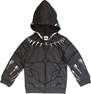 Marvel Black Panther Little Boys Mesh Mask Costume Hoodie