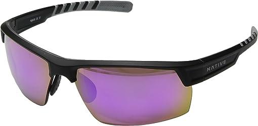 Matte Black/Crystal/Violet Reflex Polarized Lens