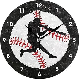 MIKA 置き時計 掛け置き両用 卓上 時計 おしゃれ 壁掛け時計 モダン アート インテリア ウォールクロック 壁時計 新生活 置時計・掛け時計 野球 ねり粉 デザイン