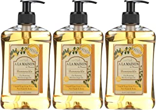 A La Maison de Provence Liquid Soap Honeysuckle, 16.9 Fl Oz (Pack of 3)