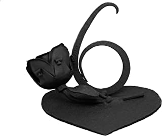 OptiProducts 6 Year Anniversary Handcrafted Iron Rose Masterpiece | Iron Year Anniversary Six Year Anniversary Tribute Gift | Perfect 6 Year or 6 Year Wedding Gift | Beautiful Hand Forged Wrought