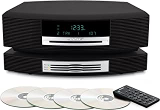 Bose Wave Music System with 3 Multi-CD Changer Accessory with Remote Control - Graphite Gray Grey (Black)