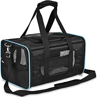 PPOGOO Pet Travel Carriers Soft-Sided for Cats and Dogs Airline Approved Non-Toxic Odorless