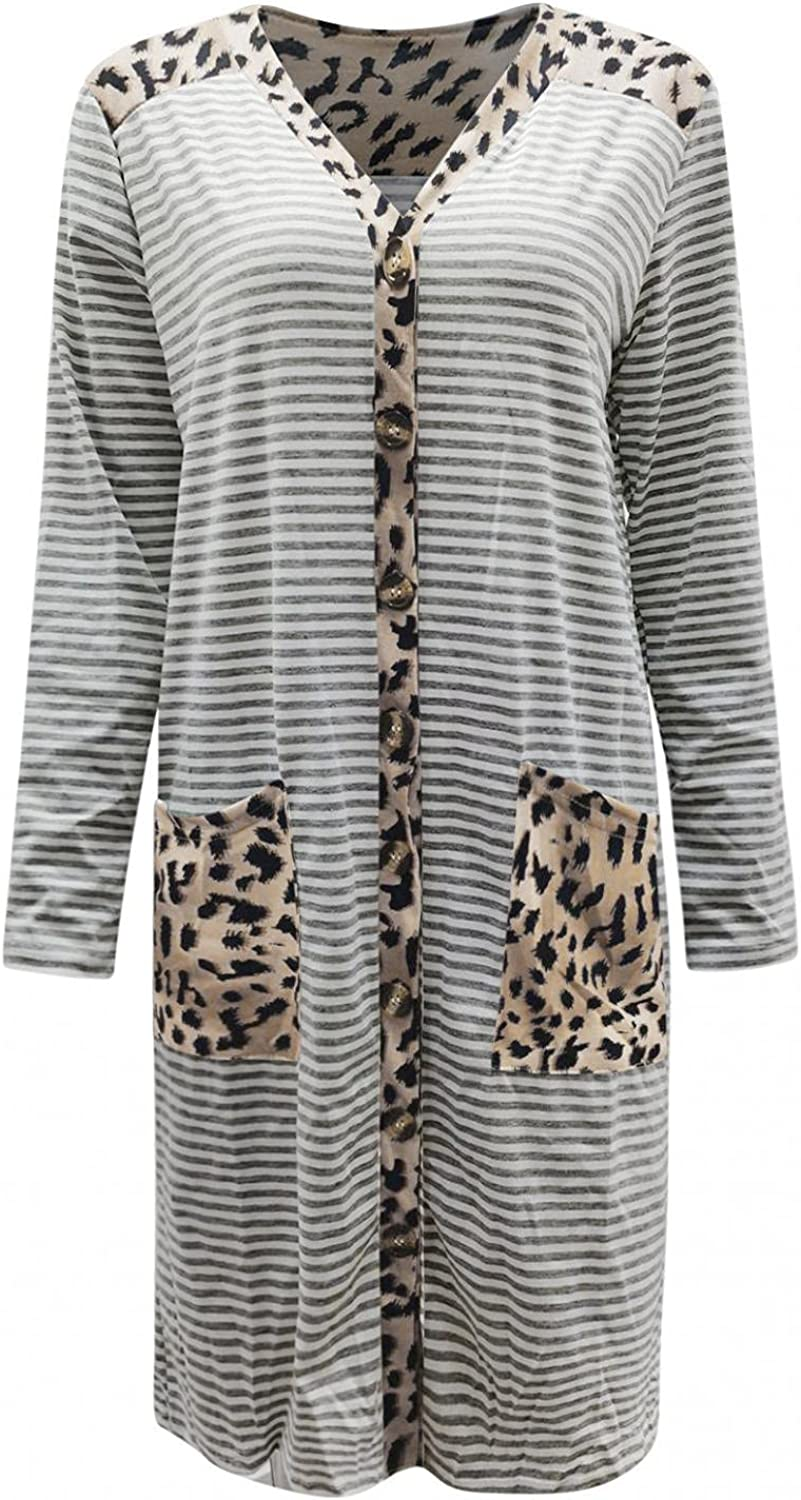 Gillberry Cardigans for Women Plus Size Lightweight Open Front Casual Loose Long Sleeve Fall Tops Coat with Pockets