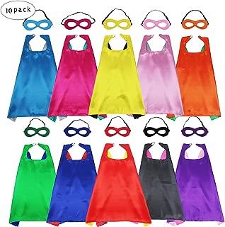 Kids Superhero Capes and Masks - Super Hero Dress Up Party Favor-10 Pack