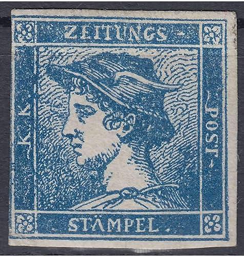 Goldhahn  erreich Nr. 6 ungestempelt Blauer Merkur Briefürken für Sammler