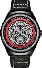 Men's Fashion Leather Skull Watch Japanese Automatic Movement Watches