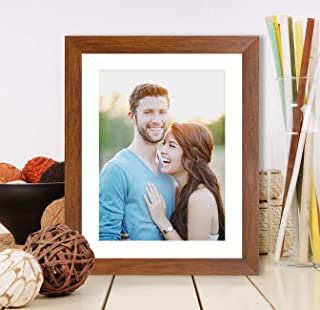 Art Street Synthetic Brown Wall/Table Photo Frame (Picture Size 8 inches X 10 inches, Matted to 6 x 8 Inches)