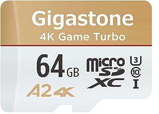 Gigastone Micro SD Card 64GB マイクロSDカード フルHD UHS-I A1 U1 90MB/S SDアダプタ付 w/adaptor アプリ高速起動 Full HD 動画対応