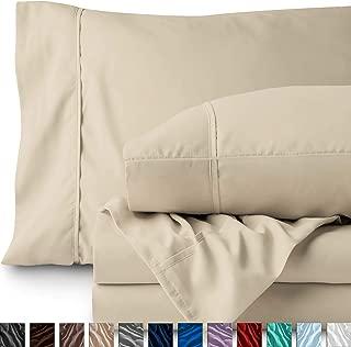Bare Home Full Sheet Set - 1800 Ultra-Soft Microfiber Bed Sheets - Double Brushed Breathable Bedding - Hypoallergenic – Wrinkle Resistant - Deep Pocket (Full, Sand)