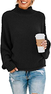ZKESS Womens Casual Long Sleeve Turtleneck Chunky Knit...