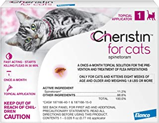 Cheristin for Cats Topical Flea Treatment – Effective Through 6 Weeks