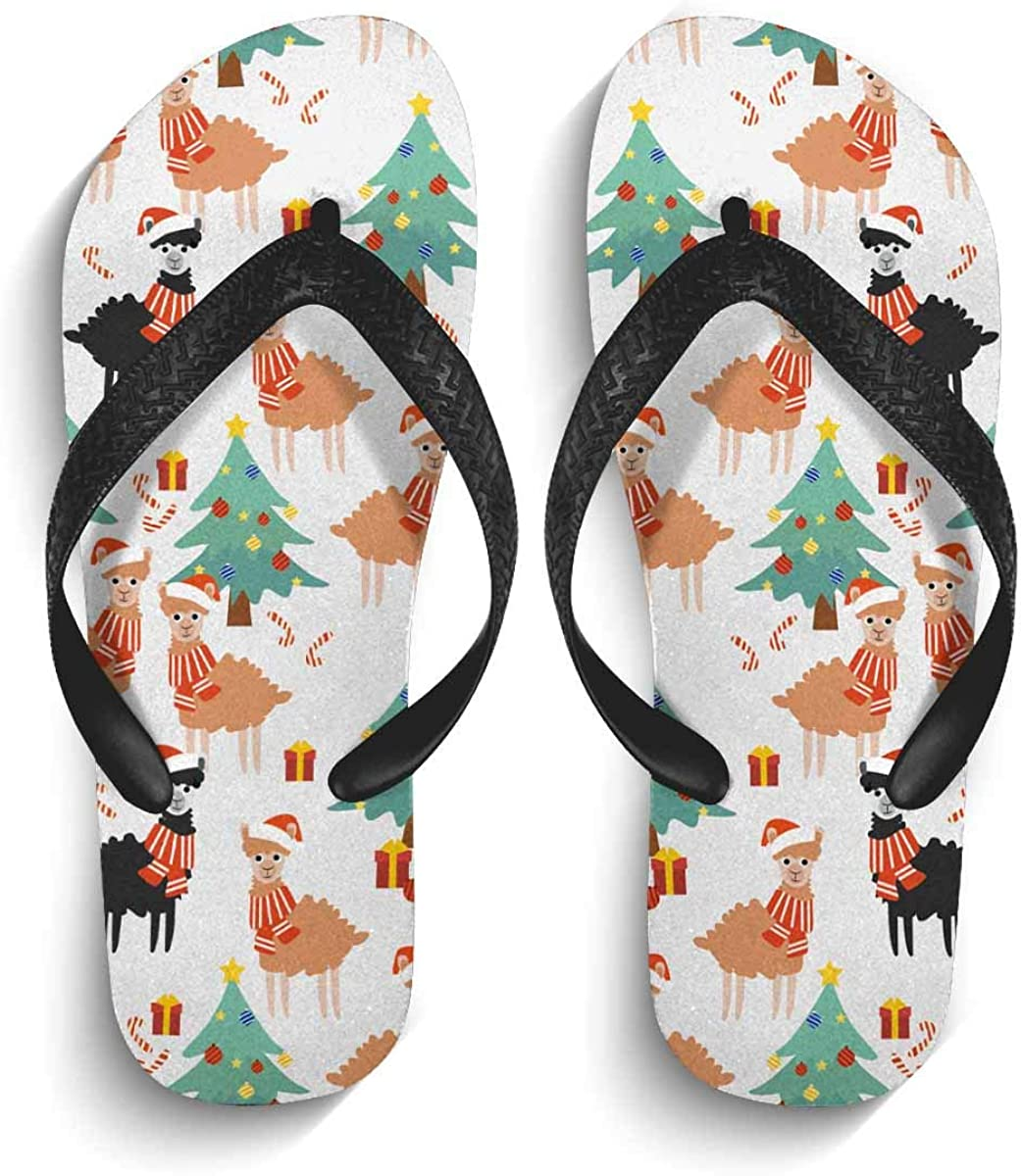 InterestPrint Men's Non-Slip Flip Flop Slippers Colorful Owls with Hearts Beach Thong Sandal