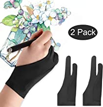 Mixoo Artists Gloves 2 Pack – Palm Rejection Gloves with Two Fingers for Paper..