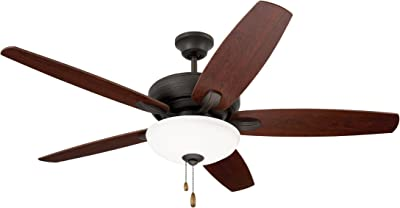 Emerson Ceiling Fans CF717ORB Ashland, 52-Inch Low Profile Hugger Ceiling Fan With Light, Oil Rubbed Bronze Finish