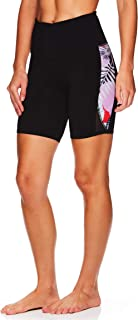 Gaiam Women's Yoga Short - Performance Spandex Compression Workout & Training Shorts w/Phone Pocket