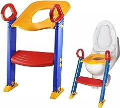 LOZ Baby Child Toddler Potty Training Toilet Seat Step, Blue