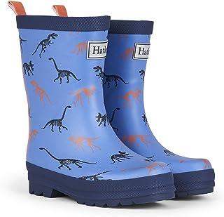Hatley Boys' Printed Rain Boots Raincoat Matte Silhouette Dinos 13 US Child