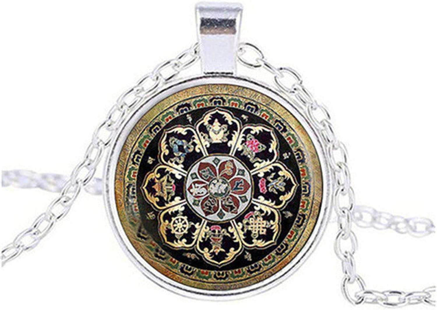 YYJLL Tibetan Shipping included Buddhist Mandala 67% OFF of fixed price Sacred Necklace Geometry Jewelry