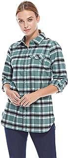 Columbia Silver RidgeTM Flannel Tunic For Women, Size M (Green) (191455063983)