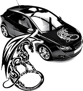 Drachen Aufkleber Motorhaube Cartattoo chinesicher Drachen F