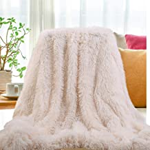 SatisInside 2019 USA Luxurious Plush Faux Fur Throws Bed Blankets, Extra Soft Cozy Warm, Fluffy Comfortable Throws Blankets for Bed Couch Kids (50