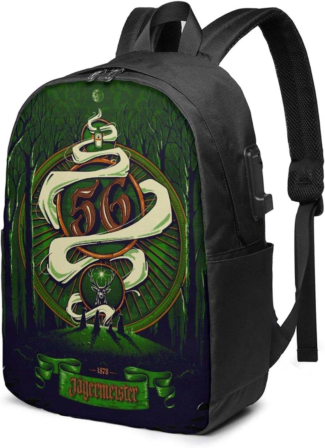 Jagermeister Adult Classic Backpack Animer and security price revision For With Usb Laptop