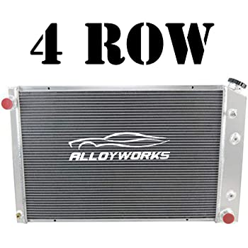 4Row Aluminum Radiator For Chevy Blazer//GMC Jimmy//P//V//R-Series Suburban 1973-91